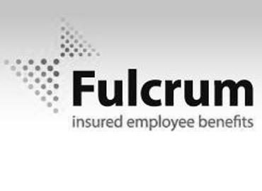 Black and White Fulcrum Logo